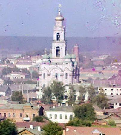 Вид на храм с Московской горки (фото 1910 г.). Автор Прокудин-Горский