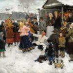 Георгий Федорович Готгольдт «Зимняя свадьба»