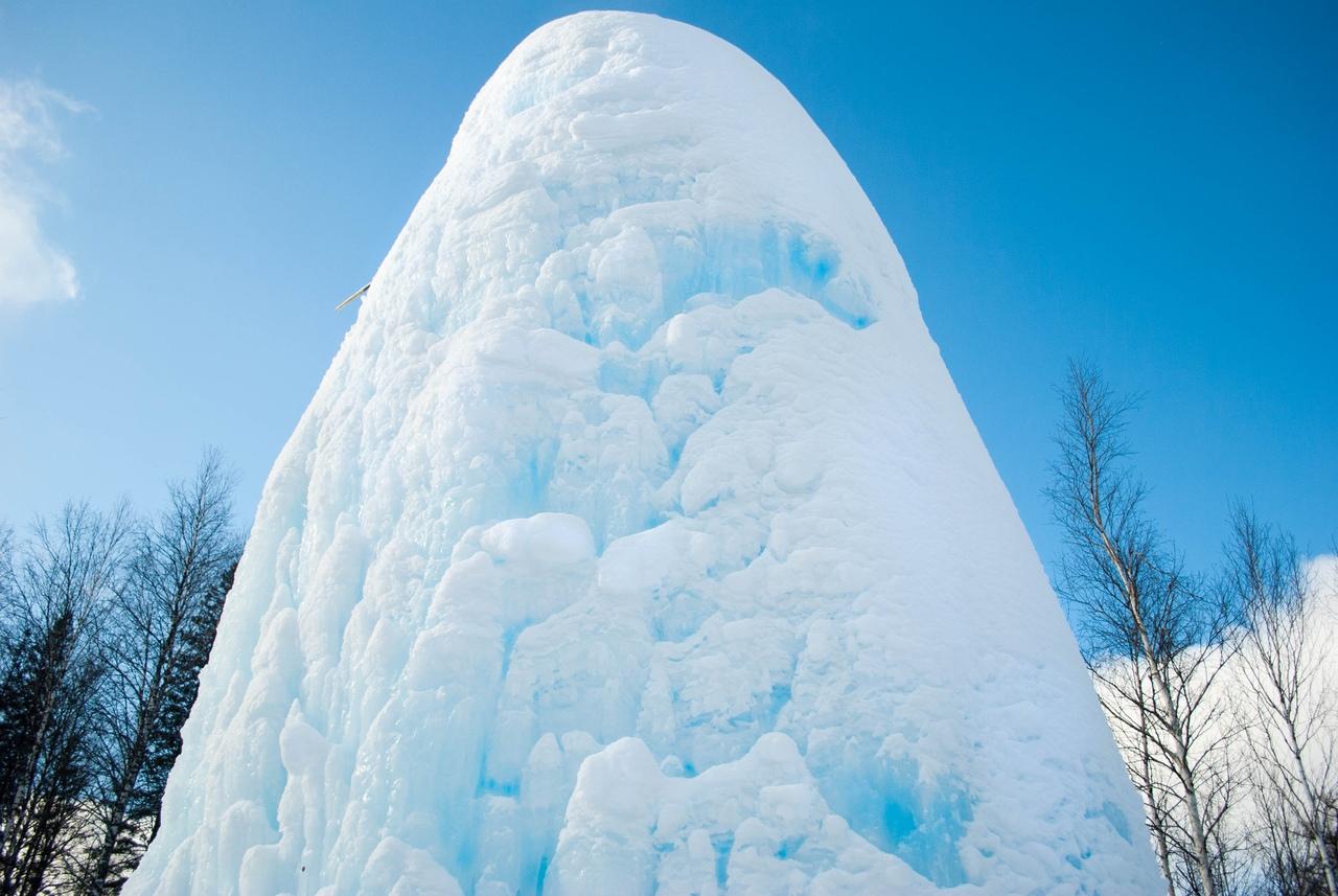 Ледяной фонтан, Зюраткуль, Южный Урал, Челябинская область, Сатка