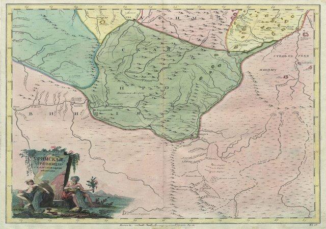 Карта Уфимской провинции из Атласа Российской империи, вышедшего в 1745 году. Однако, ситуация Южного Зауралья, отображенная на этой карте, соответствует 1735 году, то есть времени, когда и была заложена Верояицкая пристань. А вот прочие крепости, кроме первого Оренбурга (Орска) и Озерной, еще построены не были.