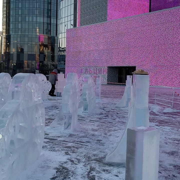 Ледовый городок, Ельцин центр, Екатеринбург, Свердловская область, Новый год, куда сходить на новогодних каникулах