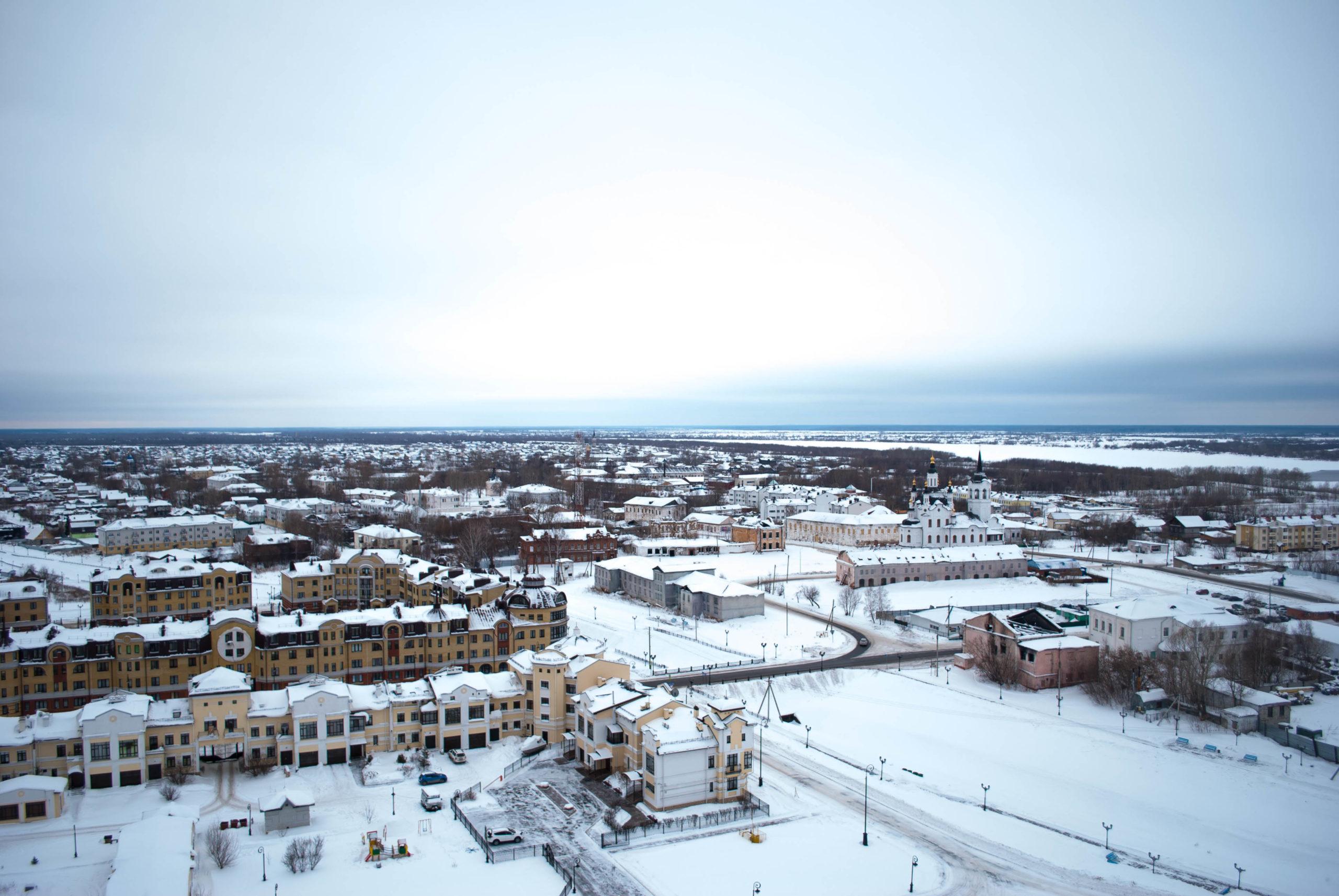 Нижний город, Тобольск, Тюменская область, достопримечательности Тобольска, Сибирь, Тобольский Кремль