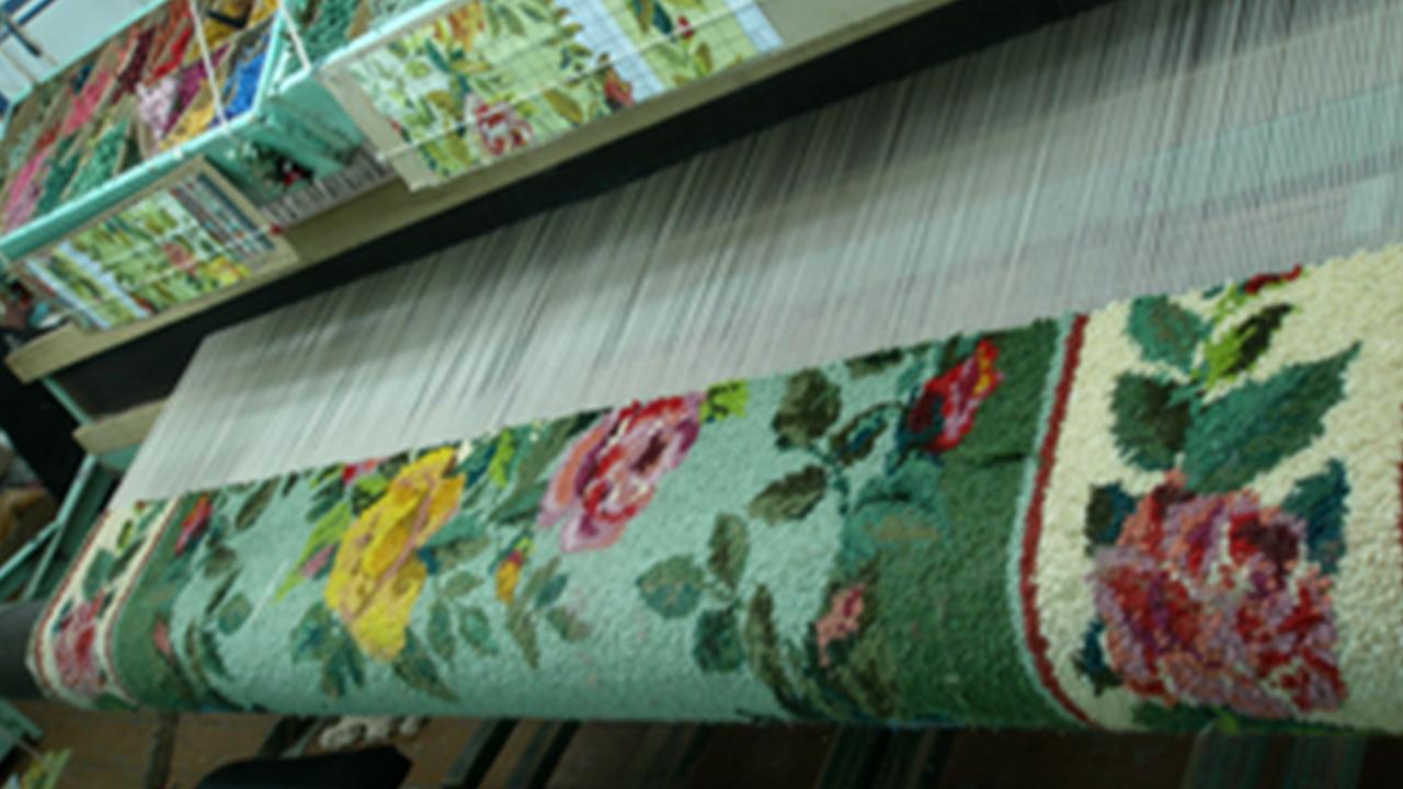 Фрагменты изделий «Сибирской ковровой фабрики», город Ишим