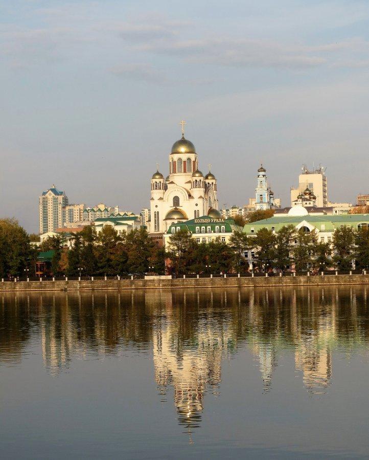 панорама Екатеринбургского пруда