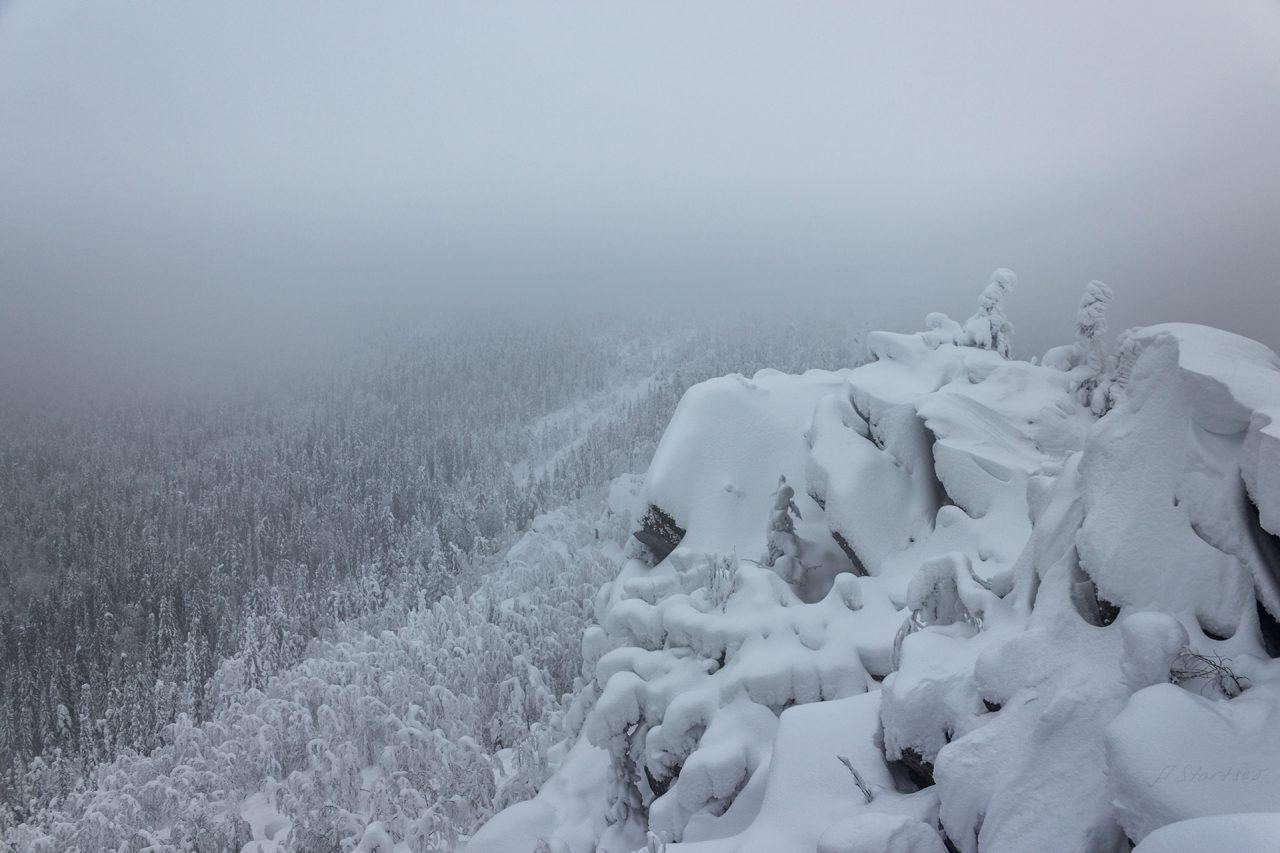 Гора Мясной камень, Пермский край, Зима на Урале