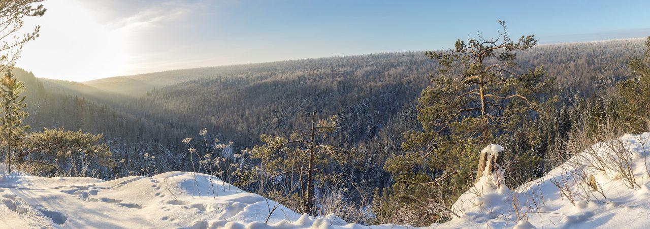 Панорама долины Поныша