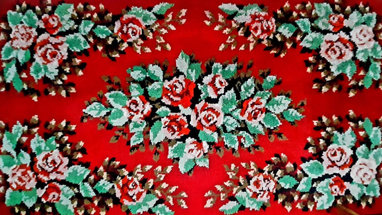 Ковёр Ишимской ковровой фабрики, 1979 год. Свадебный подарок, село Большая Ченчерь