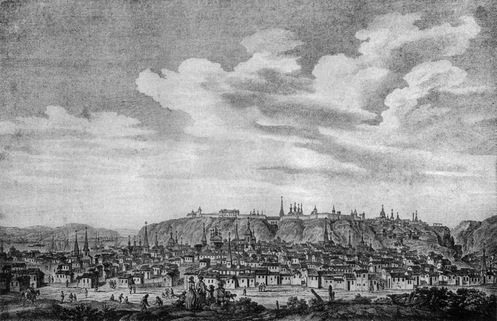 Панорама Тобольска. Альфред Рамбо, 1880 год