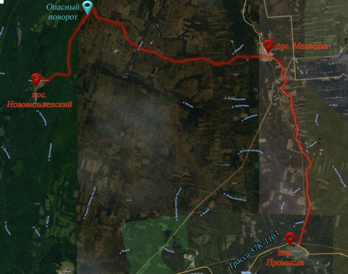 Схема проезда до Нововильвенского