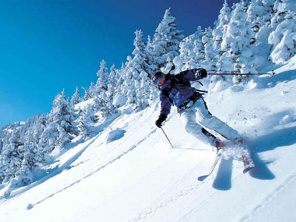 Лыжная тренировка в районе горы Волчиха