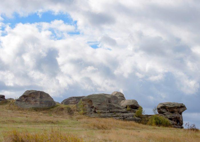 Озеро Большие Аллаки, Каменные палатки, Челябинская область, Южный Урал, Осень на Урале
