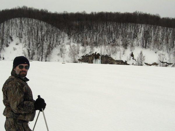 По целине на лыжах