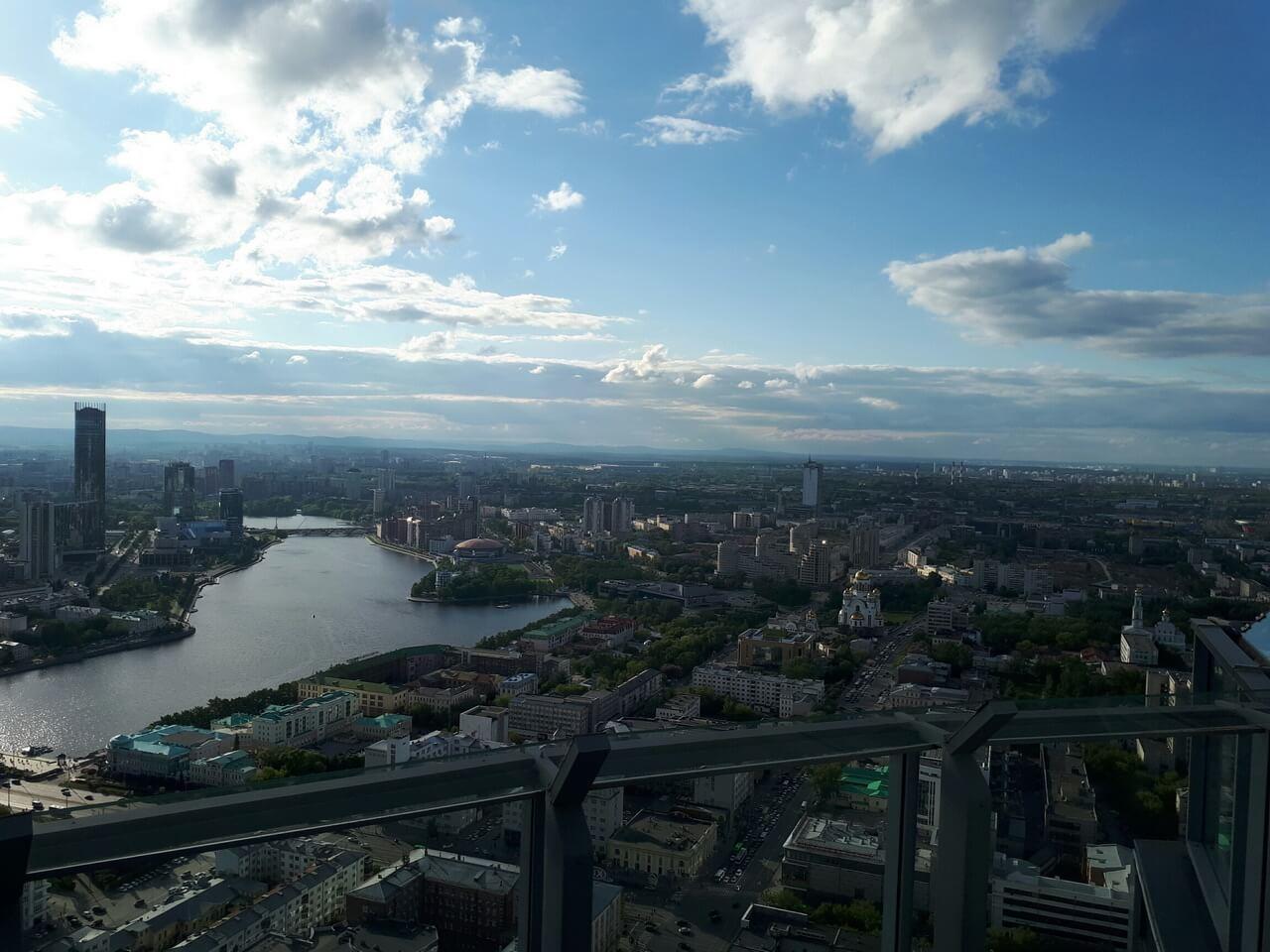 Вид на город с Высоцкого, Екатеринбург
