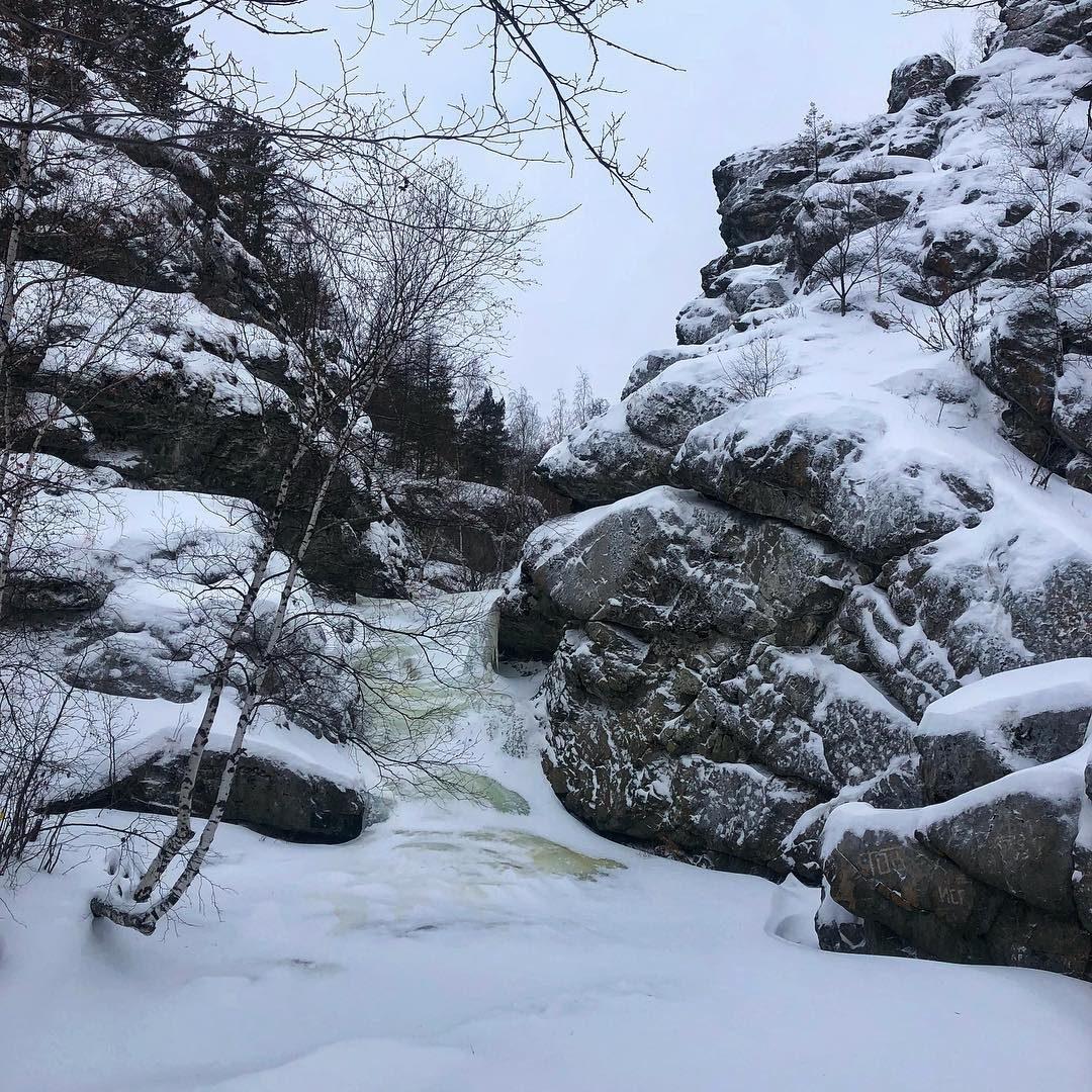 Водопад Гадельша, Башкортостан, Башкирия, Южный Урал