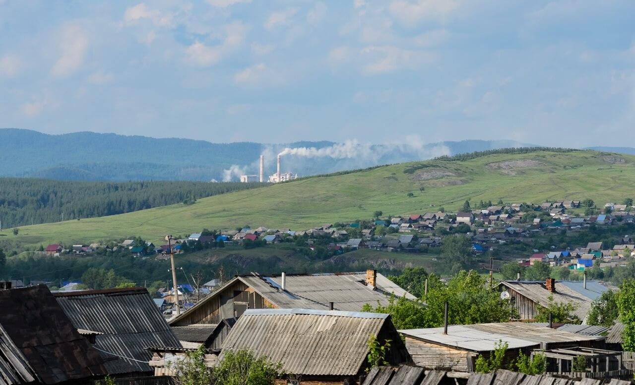 Катав-Ивановск, дымит цементный завод