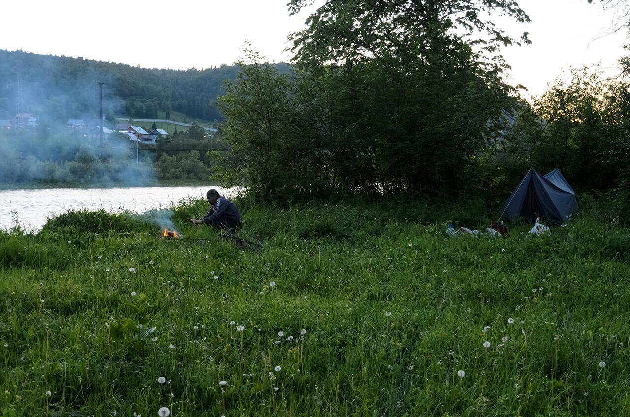 Вечер на берегу Инзера