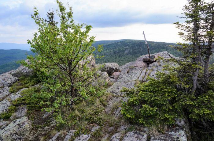 Каменный Форсос, на вершине розовых скал