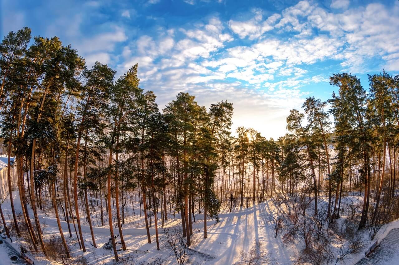 Озеро Большой Кисегач, Санаторий Кисегач, Челябинская область, Южный Урал, Зима на Урале