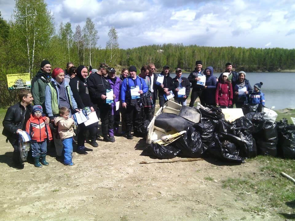 Акция «Чистый водоем»: поселок Рудник Асбест