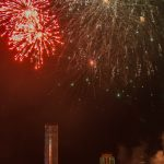праздничный фейерверк в День Победы