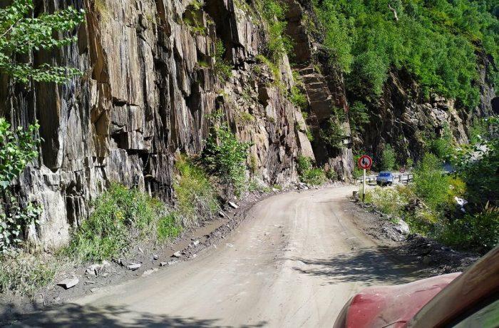 Дорога к селу Ушгули