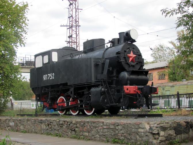 Скверик с паровозом, Зеленая Линия Перми, Пермь, Пермский край