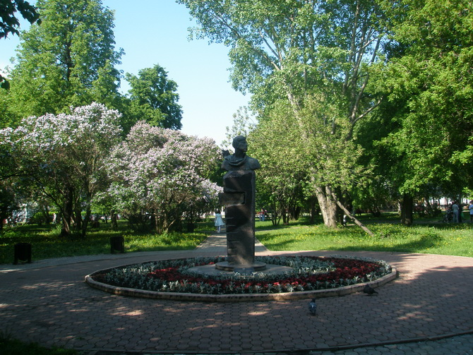 Памятник Б. Пастернаку, Зеленая Линия Перми, Пермь, Пермский край