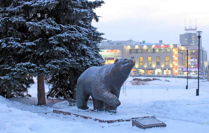 Скульптура «Пермский медведь», Зеленая Линия Перми, Пермь, Пермский край