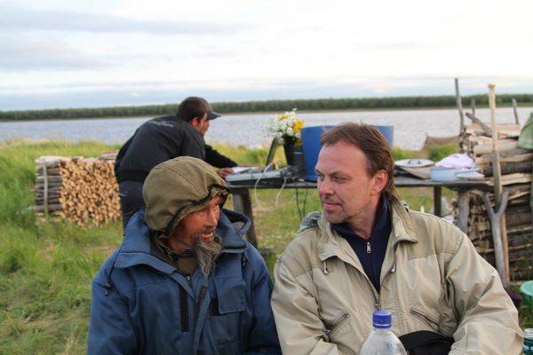 На стойбище хантов, Аканлейм, День рыбака, июль 2012 года.