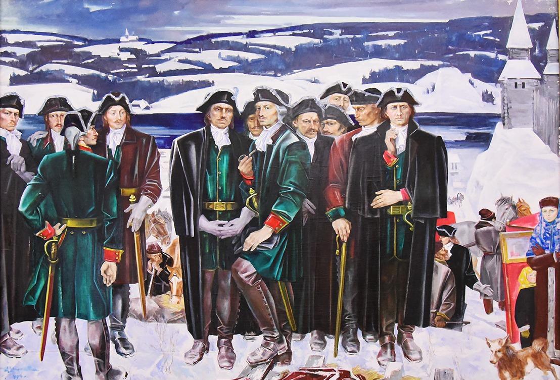 Картина Е. Широкова «Начало Великого северного похода»