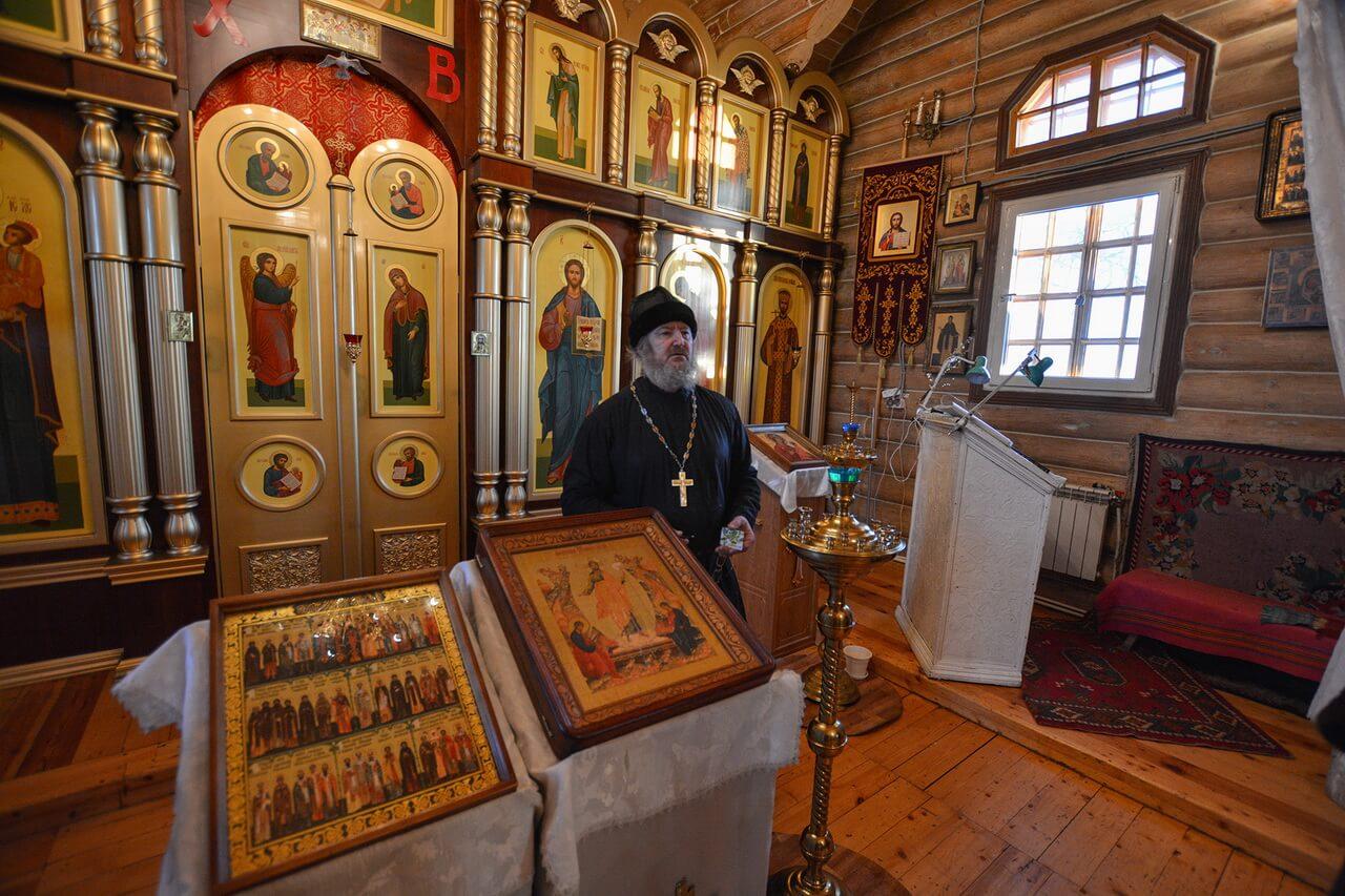 Храм во имя Тихвинской иконы Божией Матери, Атиг, Свердловская область