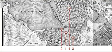 план заводского поселка 1929 года