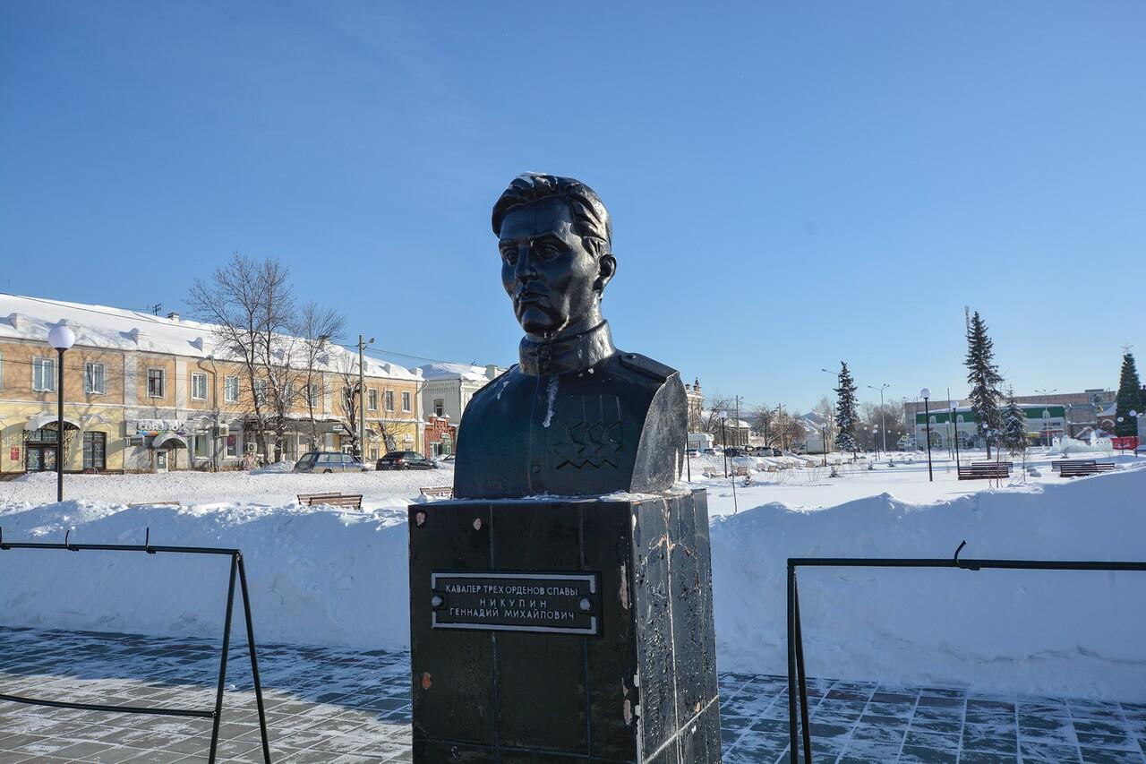Бюст Геннадия Никулина, Камышлов, Свердловская область