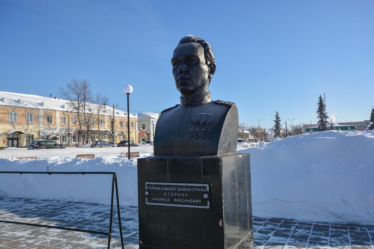 Бюст Никифора Озорнина, Камышлов, Свердловская область
