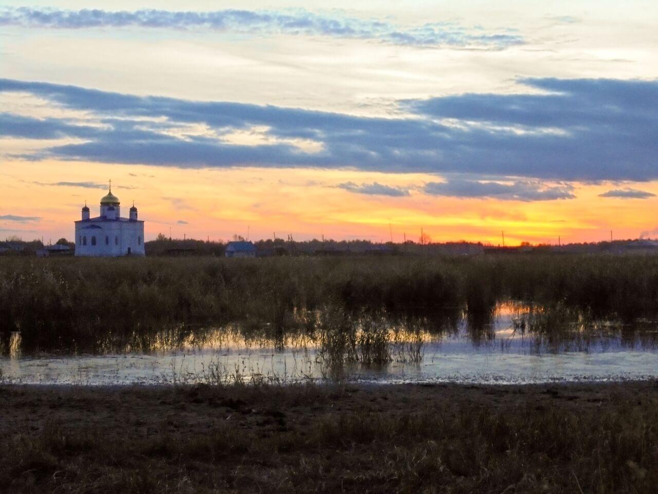 Село Костылево и Вознесенская церковь, Курганская область