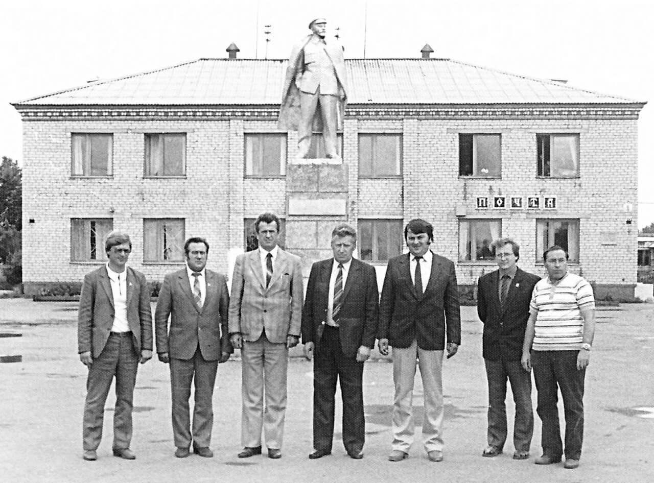 Памятник Ленину, с. Новопышминское, 80-е годы