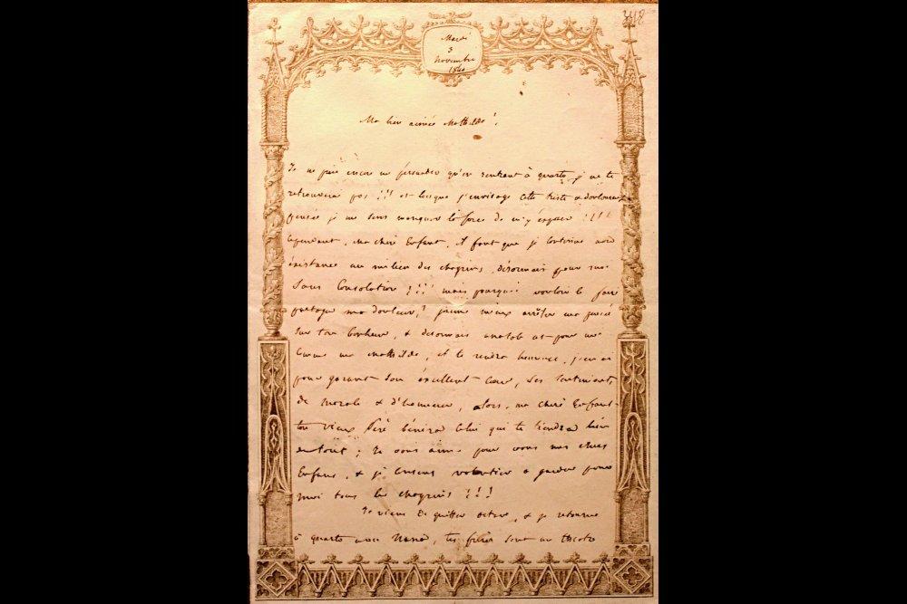 Поздравительное письмо Ж. Бонапарта Анатолию и Матильде Демидовым с днем бракосочетания. 3 ноября 1840 г.
