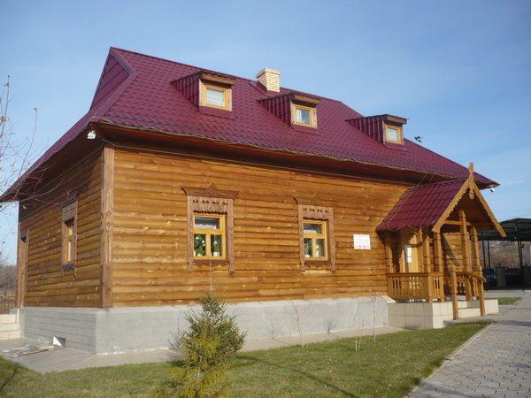 Национальная деревня, белорусский дом