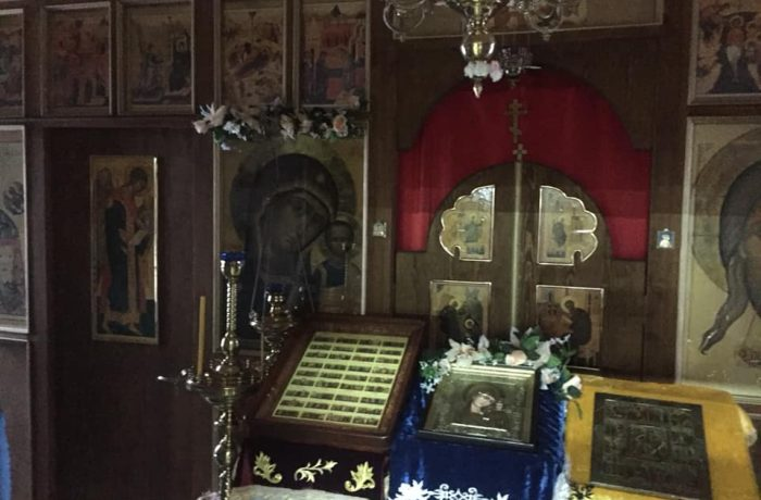 В домовом храме монастыря