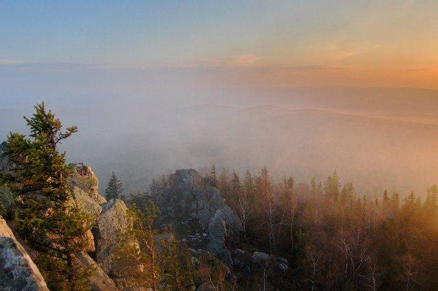 Закат на Александровской сопке.
