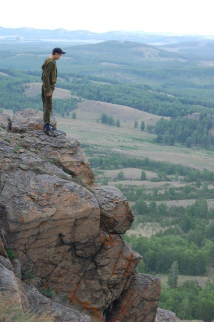Мой сын на вершине Нурали.