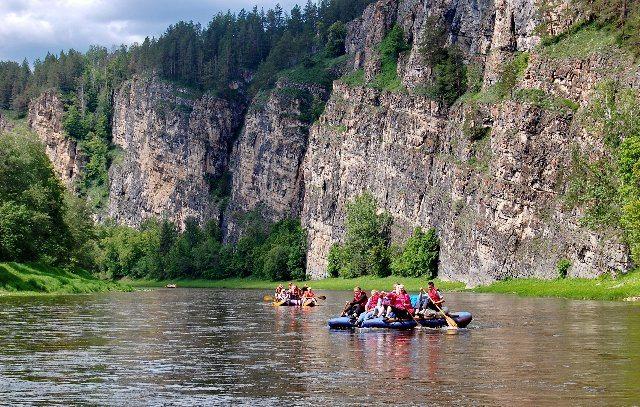 Река Ай. Поперечный гребень