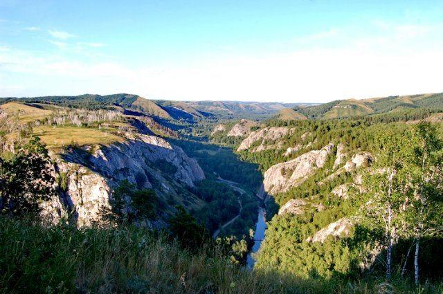 Мурадымлвское ущелье на реке Большой Ик.