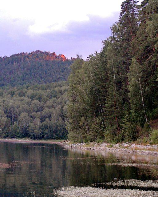 Аракуль. Озеро и шихан в лучах Заката.