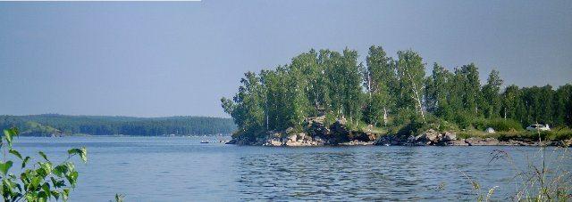 Водохранилище Аргази, крупнейшее на Южном Урале.