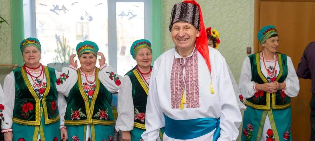 Как гарно спевают украинцы в Акбулаке