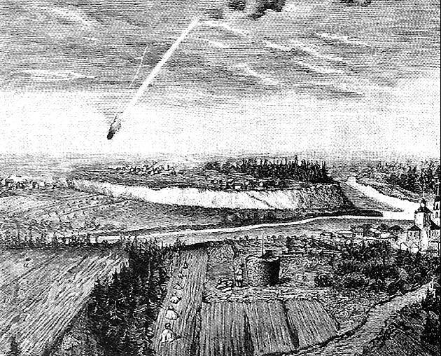 Падение метеорита в Таборах. Рис. Н. Земцова