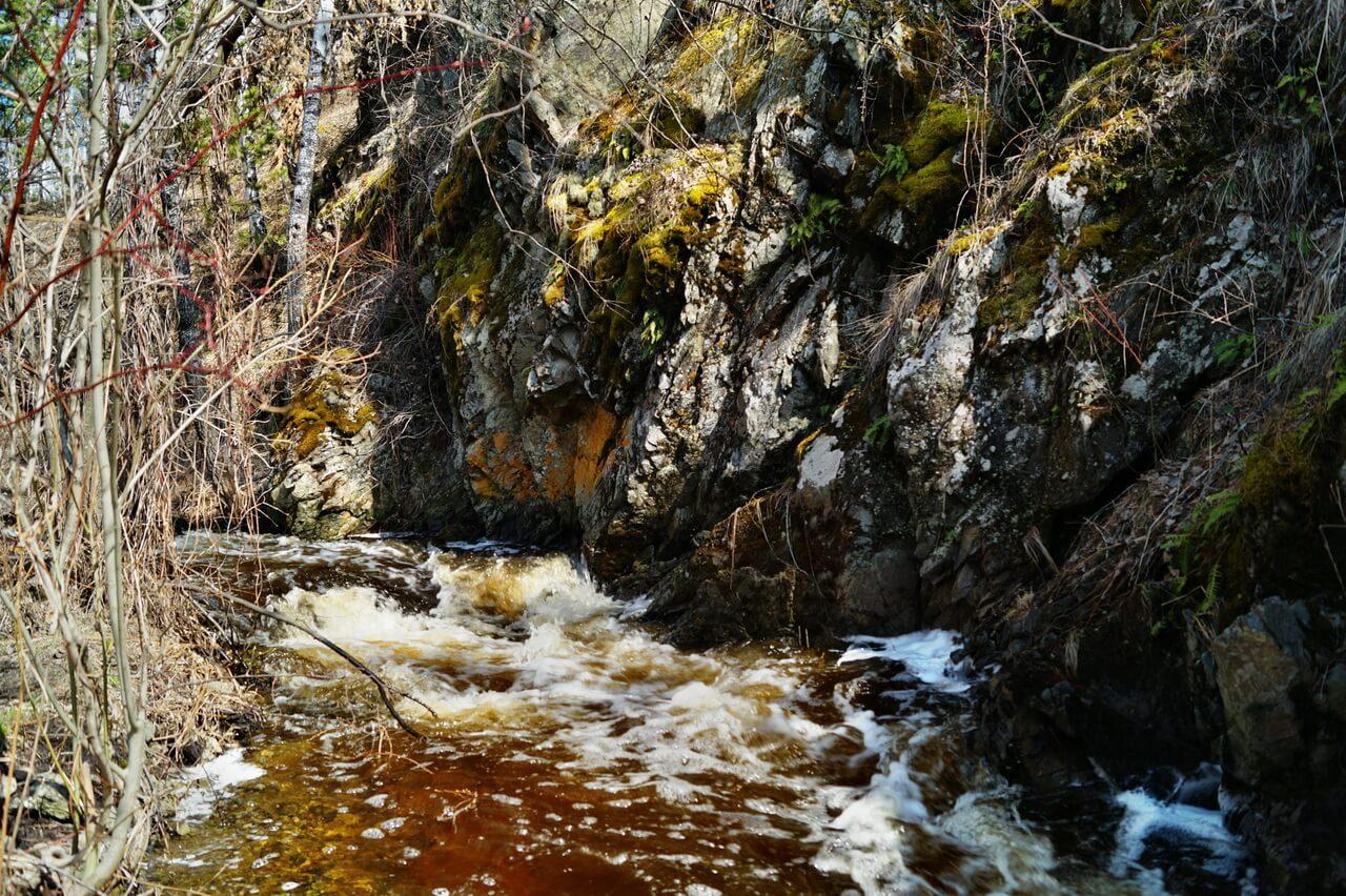 Ольгин водопад, река Межовка, Челябинская область