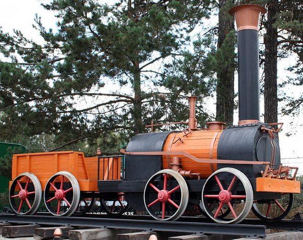 Макет первого паровоза Черепановых, Новосибирский музей железнодорожной техники. Автор фотографии: Maxim Votyakov