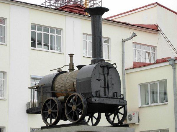 Модель паровоза Черепановых в Екатеринбурге. Автор фотографии: irina-rodigina